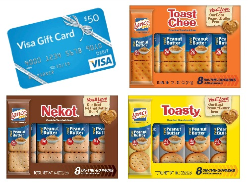 $50 Visa Gift Card and Lance Snacks Giveaway