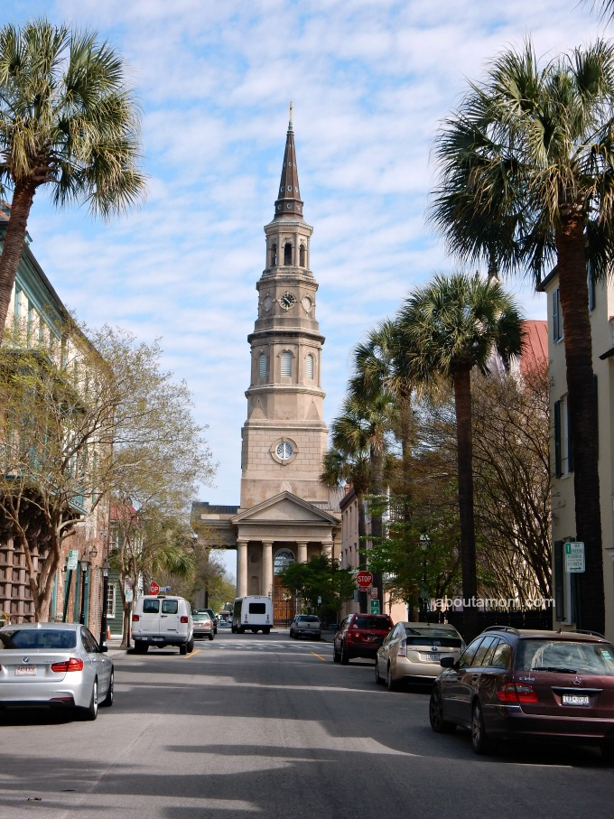 The Tower of St. Philip's Church in Charleston, SC