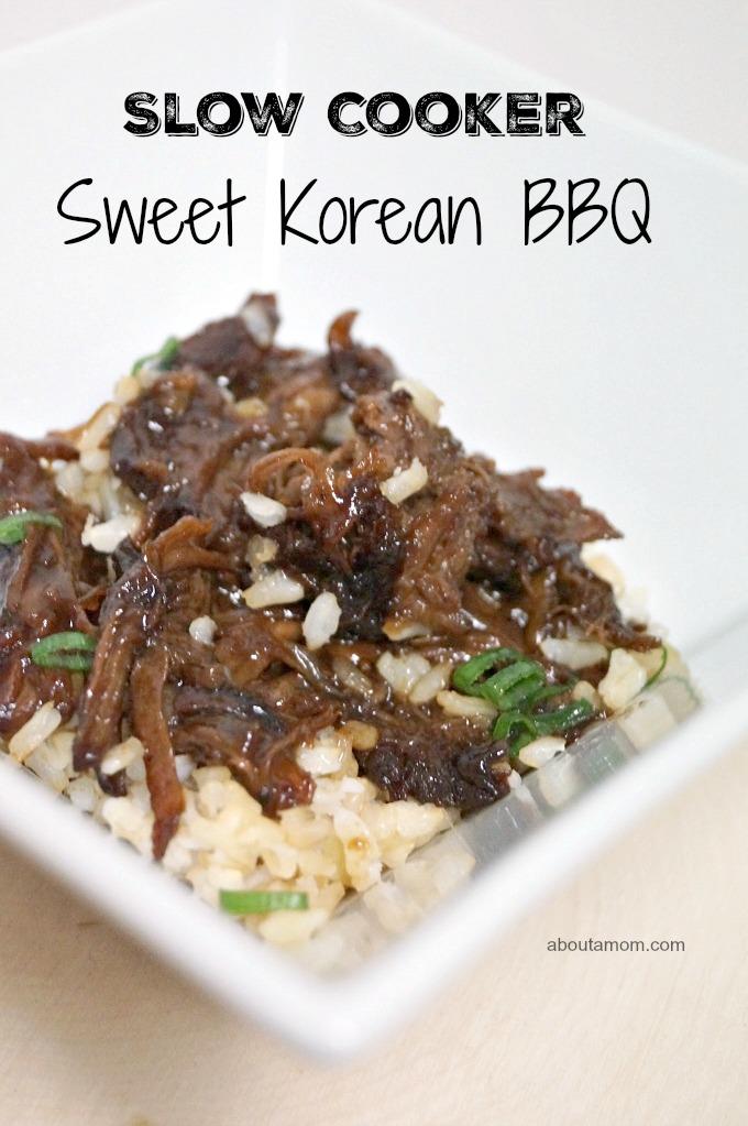 Slow Cooker Sweet Korean BBQ Recipe