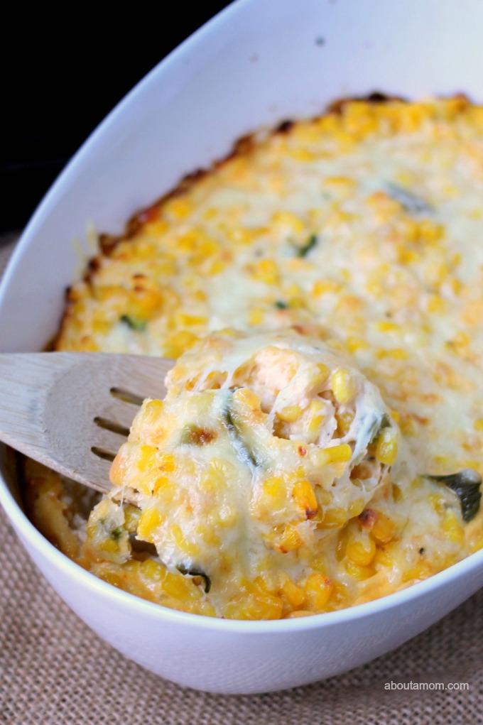Cheesy Corn Pudding with a Kick