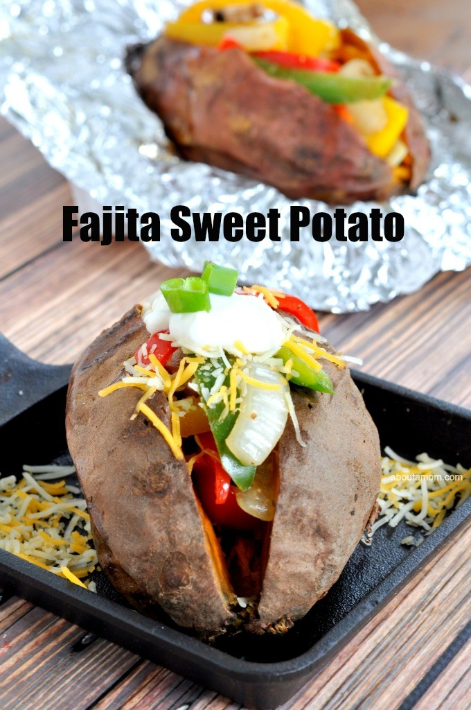 Loaded Fajita Sweet Potatoes Recipe. This loaded fajita sweet potatoes recipe has all your favorite fajita fixings. Don't you get tired of always eating sweet potatoes the same old way? I'm a huge fan of sweet potatoes but can only stand to eat so many of them loaded with butter and brown sugar.