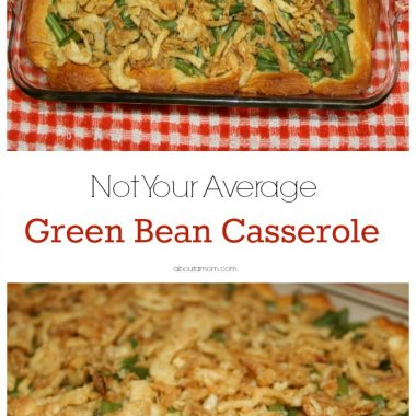 With a flaky biscuit crust, this is not your ordinary green bean casserole recipe. It's a delicious addition to your holiday menu.