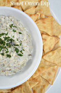 Sweet Onion Dip Recipe and Holiday Party Tips