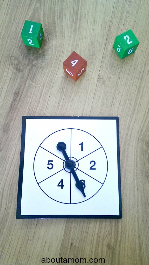 Christmas Tree Race Poster Board Game dice or spinner