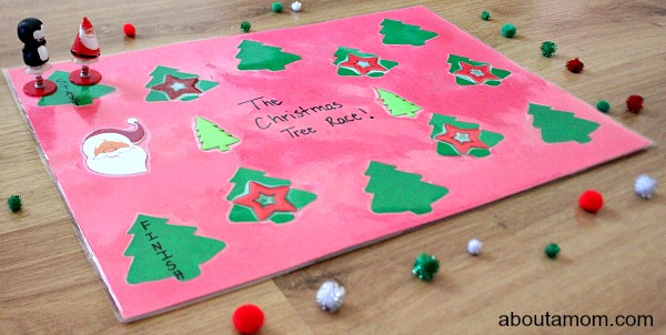 Christmas Tree Race Poster Board Game. final2