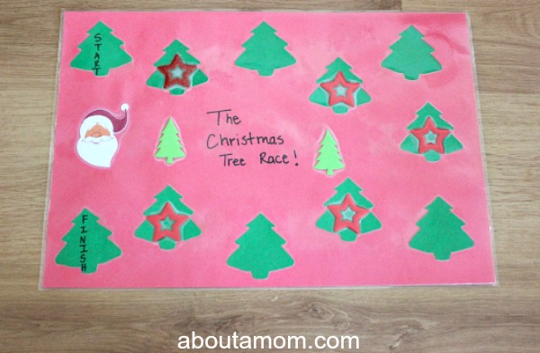 Christmas Tree Race. game board