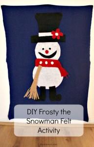 DIY Frosty the Snowman Felt Activity