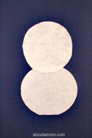 Felt Snowman circles