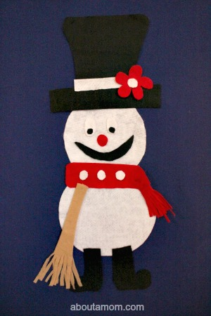 Felt Snowman finished