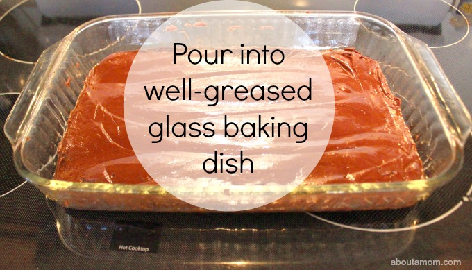 How to Make Fudge with Children. glass dish