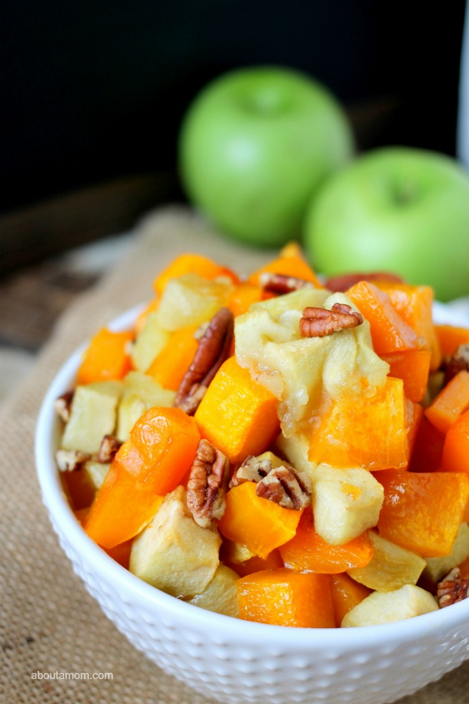 Maple Roasted Butternut Squash and Apples - About A Mom