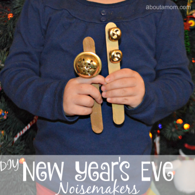 DIY New Year's Eve noisemakers for kids