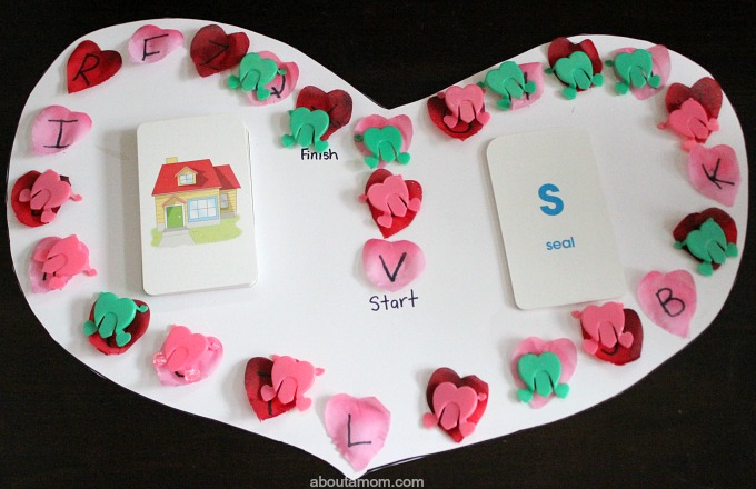DIY Valentine ABC Game. flashcards