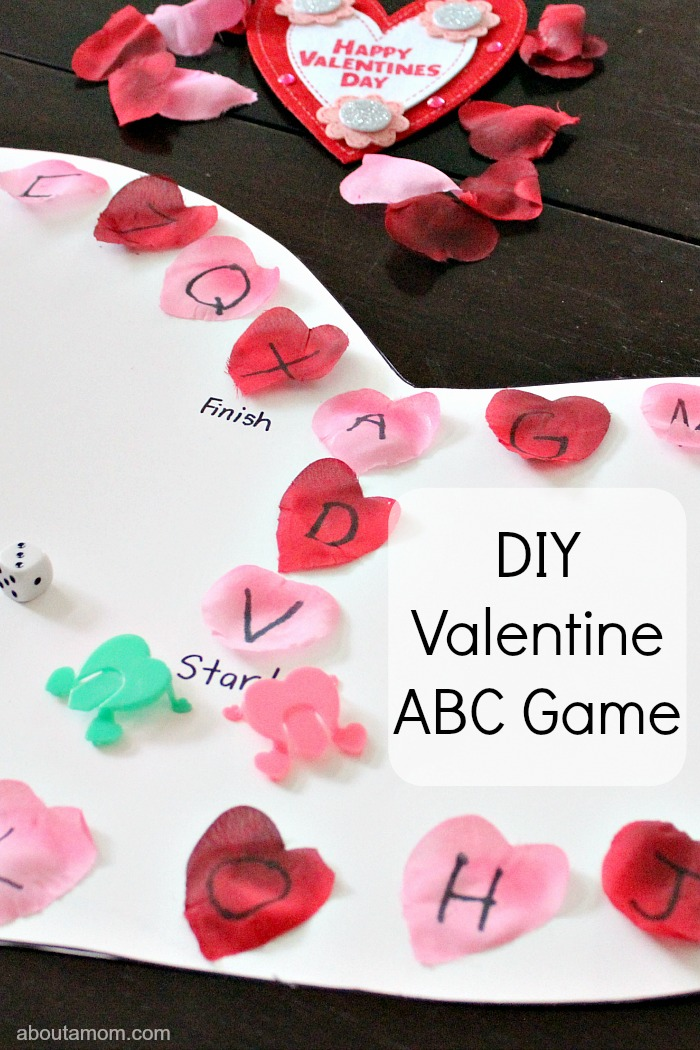 DIY Valentine ABC Game. hero image