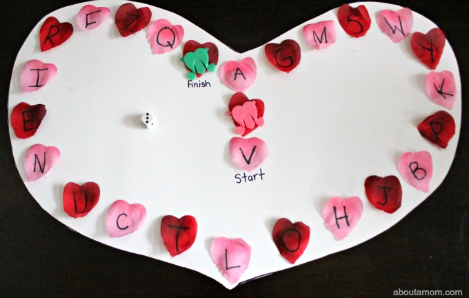 DIY Valentine ABC Game. traditional