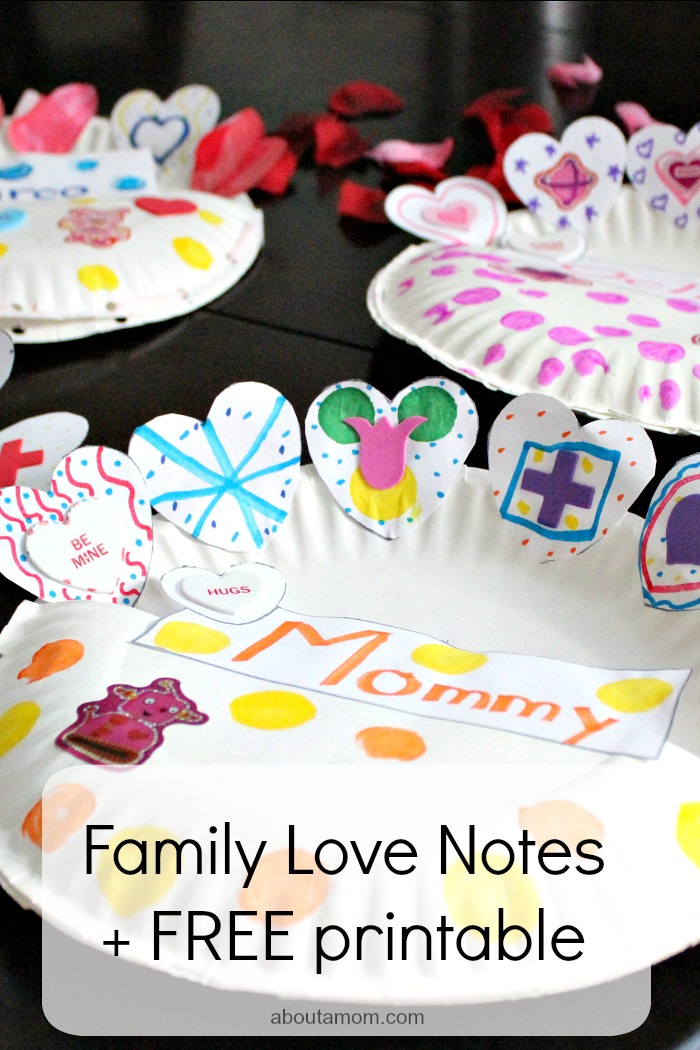Family Love Notes + FREE Printable. hero