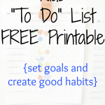 Encourage good chore habits with this kids to do list printable.