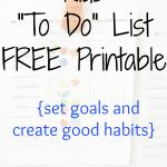 """Kids """"To Do"""" List Printable"""