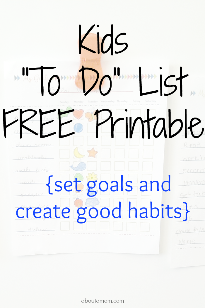 photo regarding Free to Do List Printables named Young children \