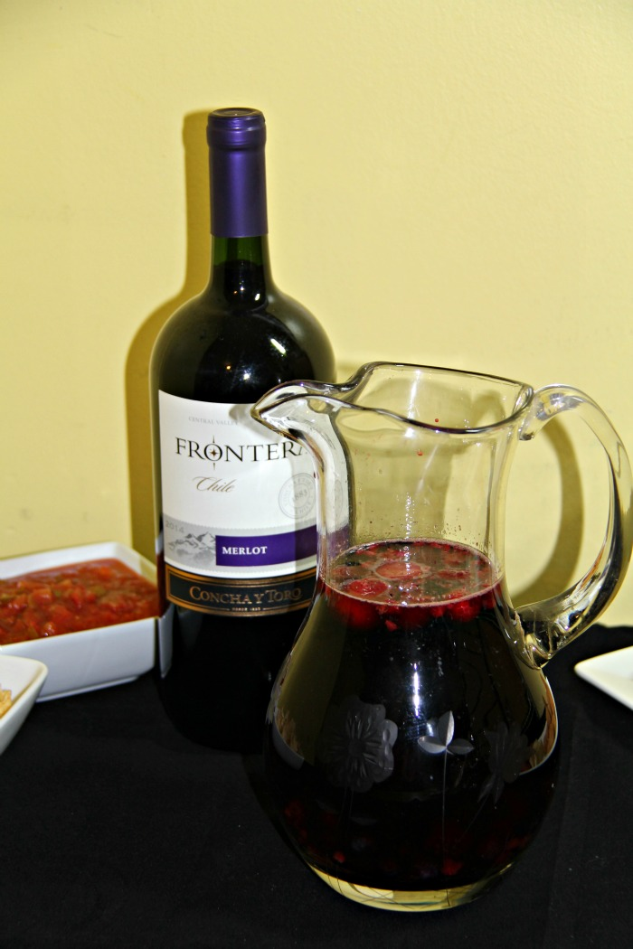 Pitcher of Sangria Wine Spritzers made with Frontera wine