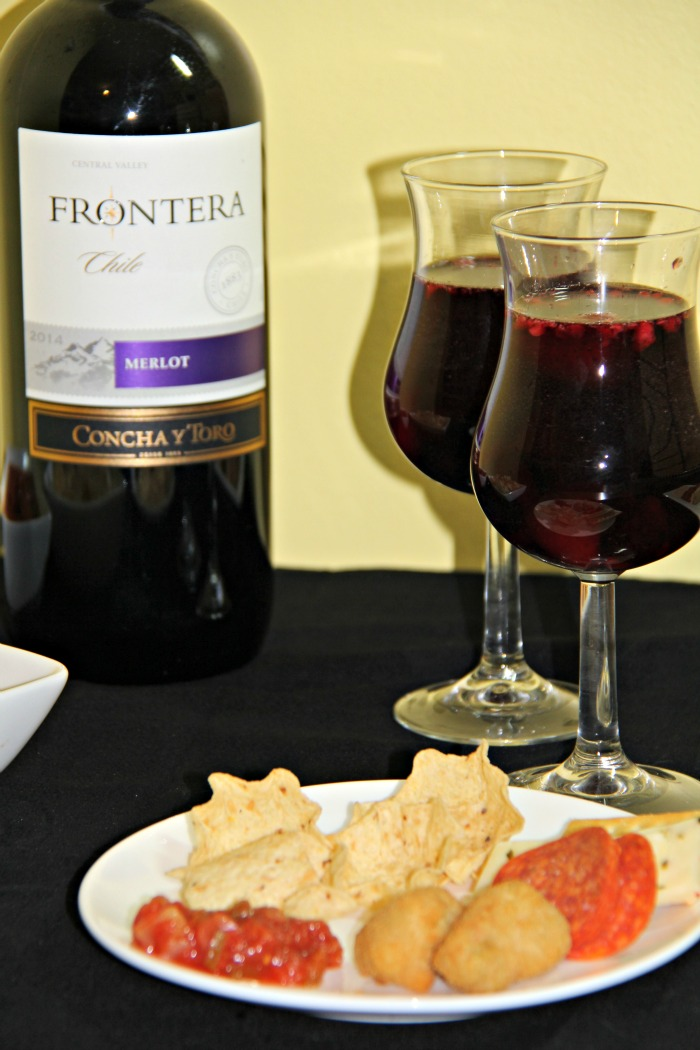 Sangria Wine Spritzers, Frontera wine and game day snacks