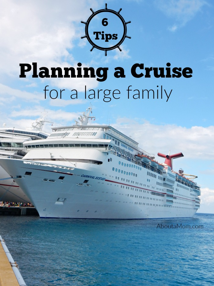 Cruising with a large family is doesn't have to be intimidating. In fact, it's incredibly easy.Use these helpful tips when planning your next family cruise.
