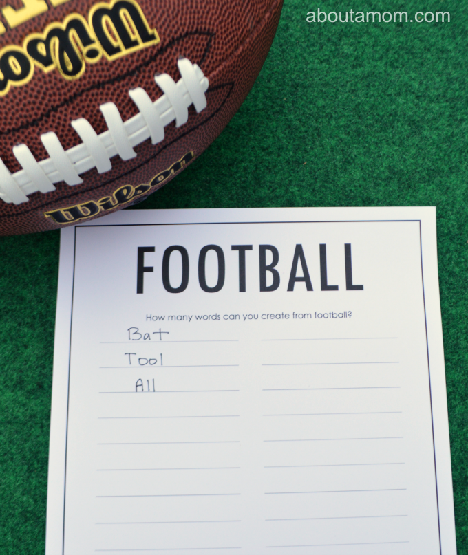 This football word puzzle would be great for kids or adults for the Superbowl. Grab at free copy printable copy at www.aboutamom.com