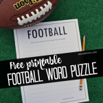 This football word puzzle would be a fun activity for kids or adults for Superbowl. Grab the free printable at www.aboutamom.com.