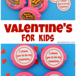 Totally cute Valentines for kids are quick and easy to make with a free printable. These Valentines are gender neutral, and perfect for kids of all ages.