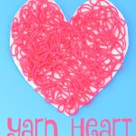 Textured Yarn Valentine Heart Craft