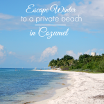 Winter is the perfect time to go on a cruise, and a private beach excursion in Cozumel is the ultimate winter escape. Relax and enjoy the beach.