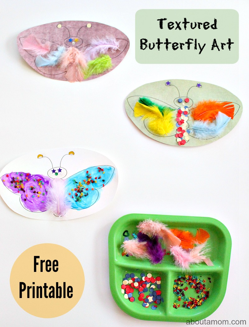 Textured Butterfly Art, free printable