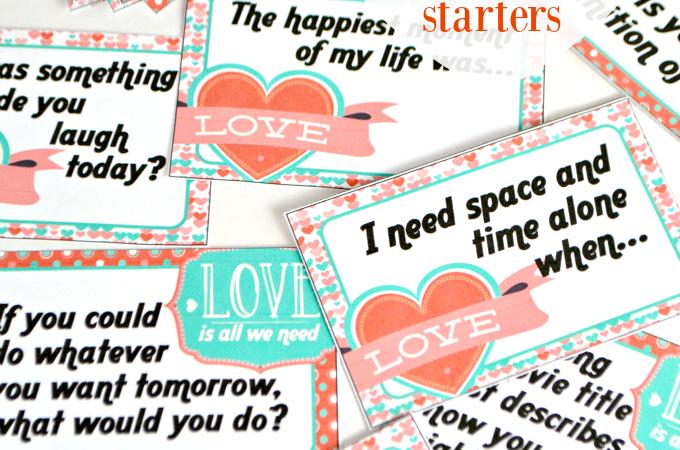 Valentine's Day Date Night Conversation Starters Printable