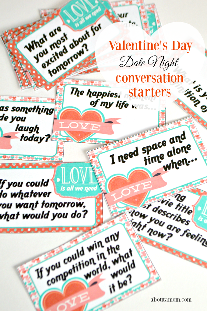 Valentine's Day Date Night Conversation Starters Printable