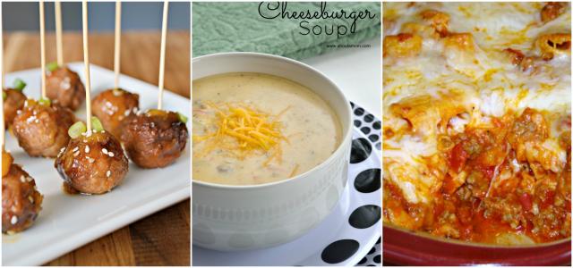 comfort foods collage