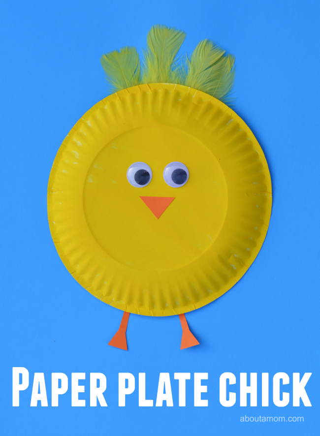 East paper plate chick craft, perfect for Easter for farm unit.