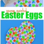 This is a great process art Easter egg craft that can be done by kids of all ages and won't have your worrying about spilled egg dye.