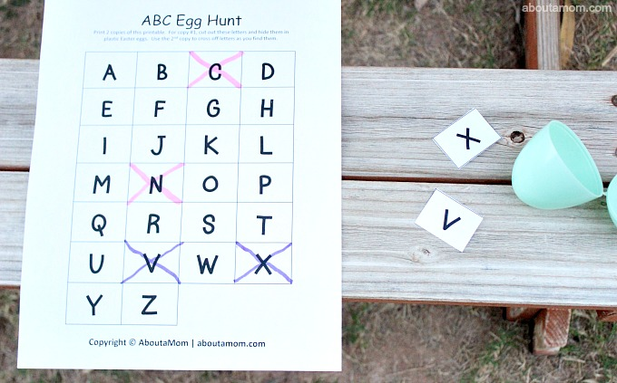 ABC Egg Hunt, 2 player game
