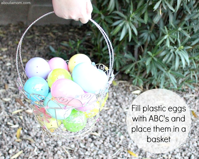 ABC Egg Hunt, eggs and basket