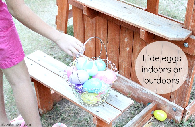 ABC Egg Hunt, hide eggs