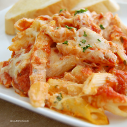 Classic Baked Penne Pasta with Ricotta Recipe