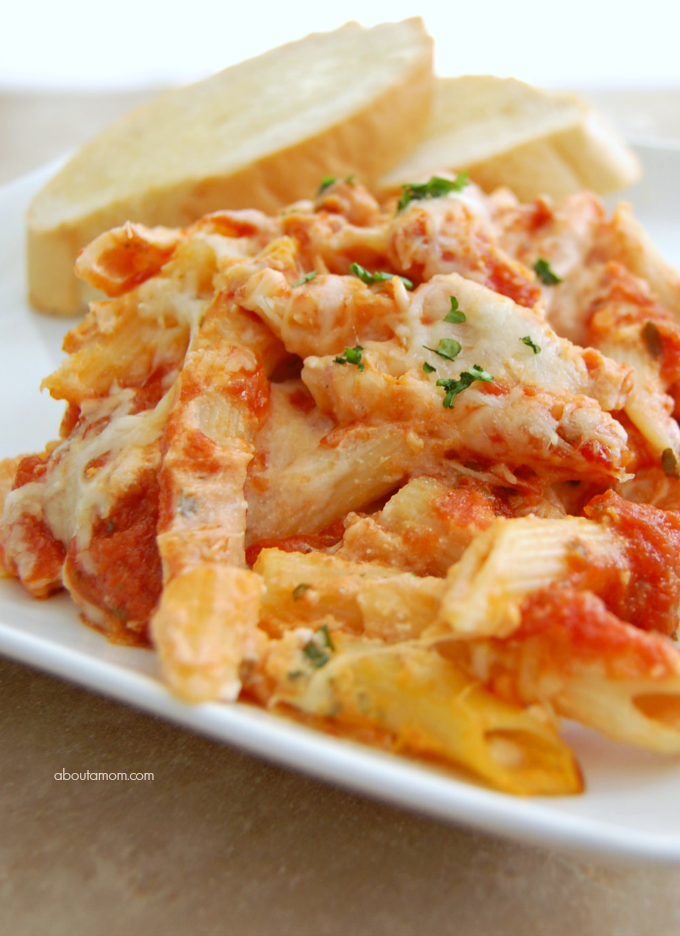 classic baked penne pasta with ricotta recipe about a mom