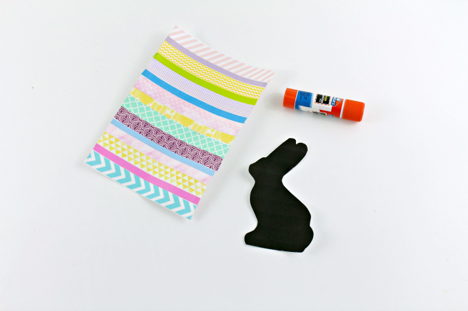 Easter Bunny Silhouette DIY Home Decor Project