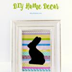 Easter Bunny Silhouette DIY Home Decor