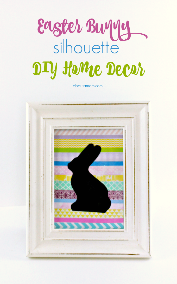 This Easter Bunny Silhouette home decor project is fun to make and comes together quickly. It's the perfect addition to your Easter home decor.
