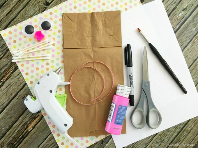 Easter Bunny craft- Bunny Bag supplies