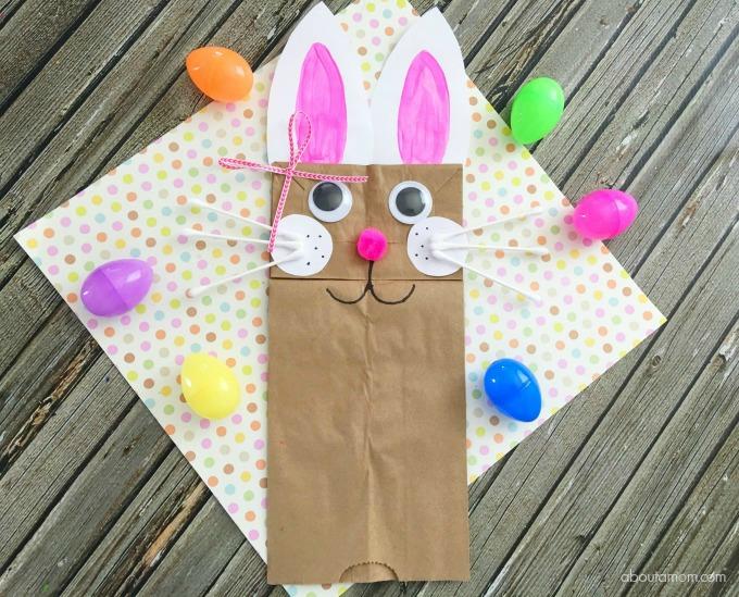 Easter bunny craft- bunny bag