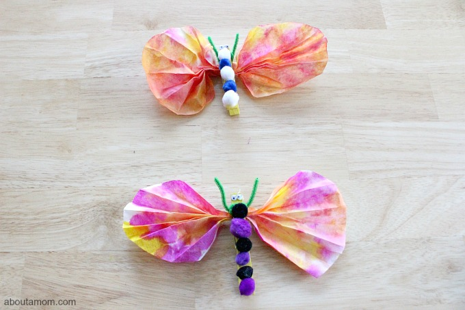 Easy Butterfly and Chrysalis Craft, 2 butterflies