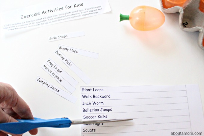 Excercise Activities for Kids, assemble