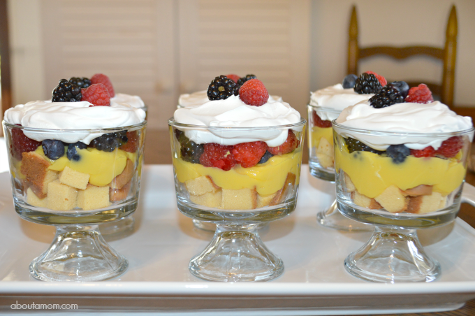Trifle makes a quick, delicious and easy dessert that is perfect for entertaining. A real show stopper, this Mixed Berry Trifle dessert comes together in very little time.